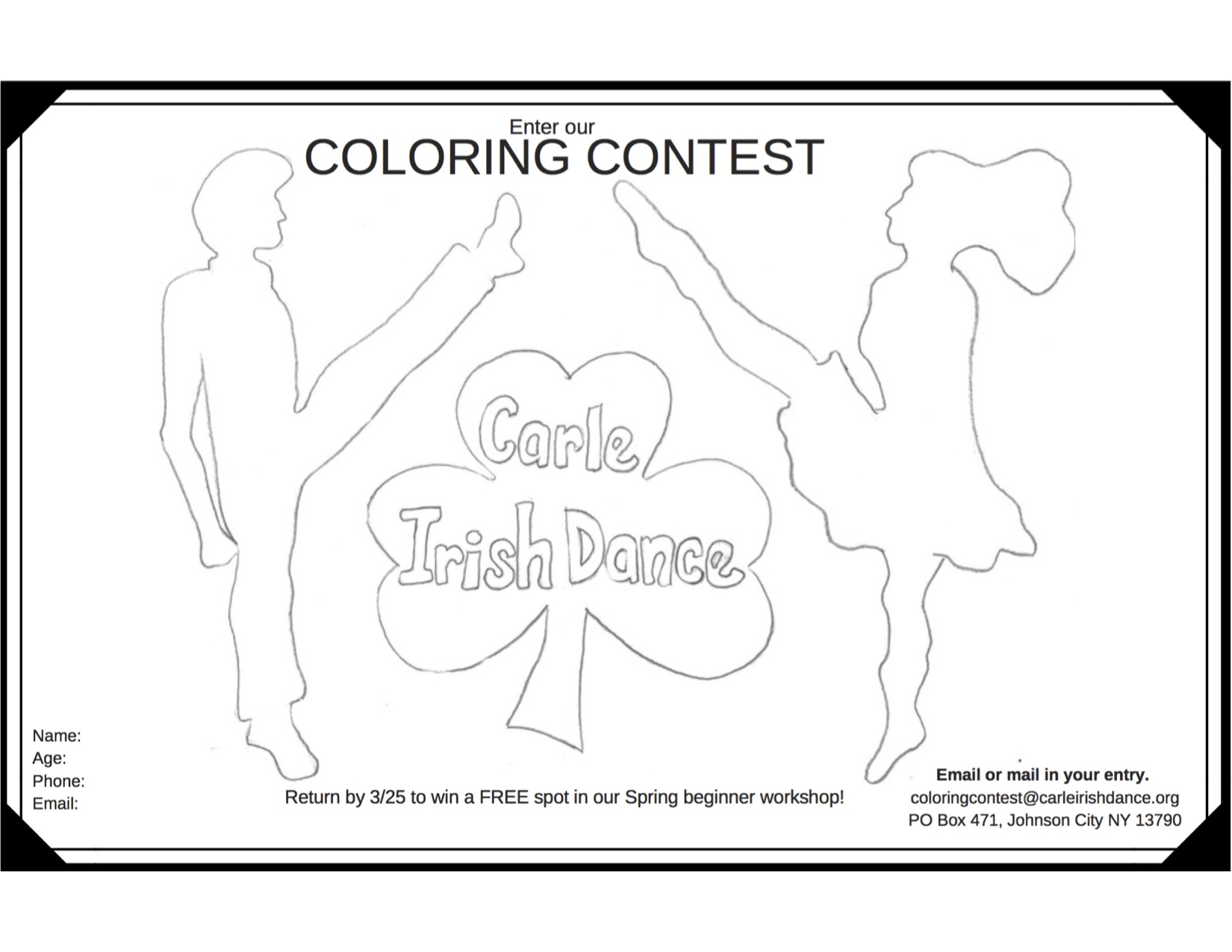 Coloring contest sheet 2017 1 up